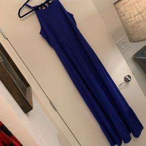 Blue Racerback Maxi Dress